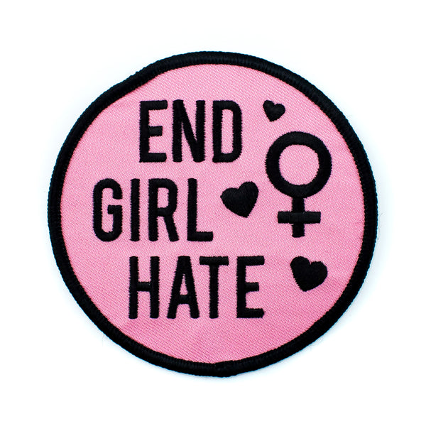 End Girl Hate Big Iron-On Patch