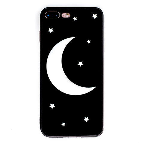 Moon & Stars iPhone Case 6 6s 6+ 7+ 7s 8s 8+ SE Witch Cute Moon Cycle Fantasy Fairy Goth Magic Magical Phone Case