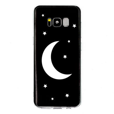 Moon & Stars Samsung Galaxy Case S7 S7 Edge S8 S8+  Witch Cute Moon Cycle Fantasy Fairy Goth Magic Magical Phone Case