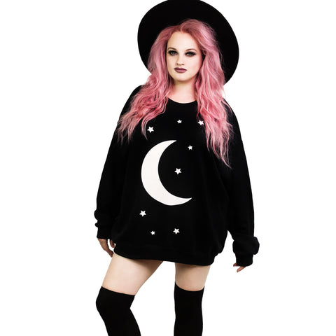Moon & Stars Oversized Sweatshirt