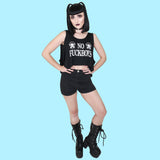 No Fuckboys Crop Tank - Witch - Goth - Nu Goth - Witch Worldwide