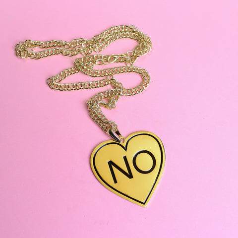 NO Gold Necklace - Witch - Goth - Nu Goth - Witch Worldwide