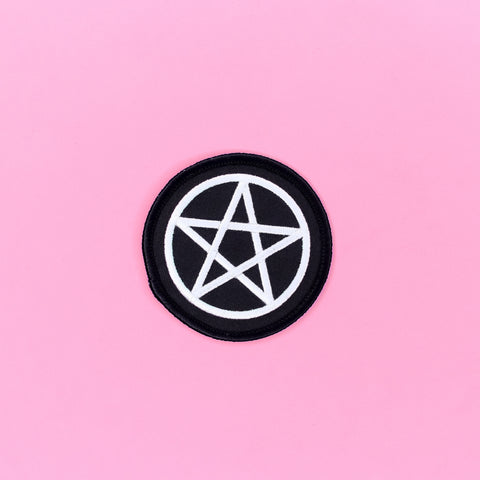 Lil Pentacle Iron-On Patch - Witch - Goth - Nu Goth - Witch Worldwide