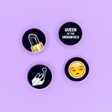 Queen Of The Underworld Badge Pack - Witch - Goth - Nu Goth - Witch Worldwide