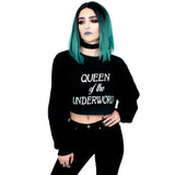 Queen Of The Underworld Cropped Sweatshirt