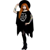 Rose and Pentacle Oversized Tunic Top Goth Plus Size Pagan Pentagram Gothic