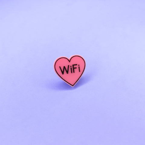 WiFi Love Pin Pink - Witch - Goth - Nu Goth - Witch Worldwide