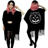 Witch Kitty Cotton Fringe Kimono