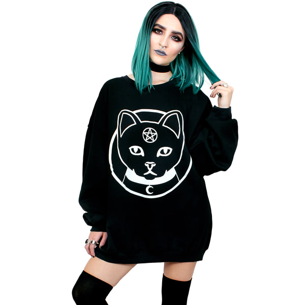 Witch Kitty Oversized Sweatshirt