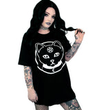 Witch Kitty Oversized Tee Shirt