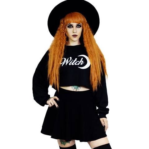 Witch Moon Cropped Sweatshirt