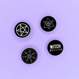 Witch Symbols Badge Pack - Witch - Goth - Nu Goth - Witch Worldwide
