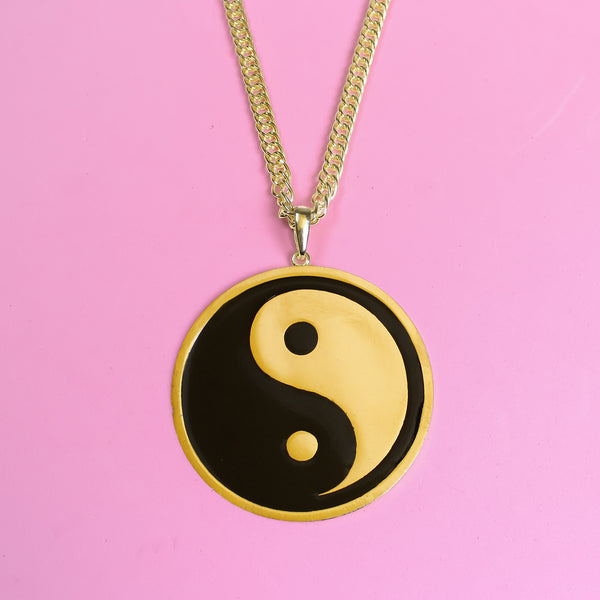 Yin Yang Gold Necklace