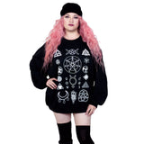 Witch Symbols Oversized Sweatshirt