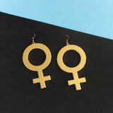 Venus Gold Oversized Earrings - Witch - Goth - Nu Goth - Witch Worldwide