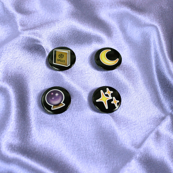 Witch Emoji Badge Pack - Witch - Goth - Nu Goth - Witch Worldwide