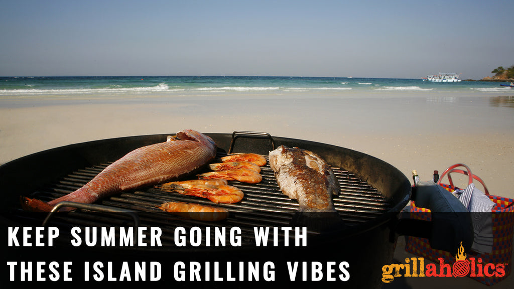 summer tropical island grilling