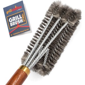Grillaholics Pro Steel Grill Brush