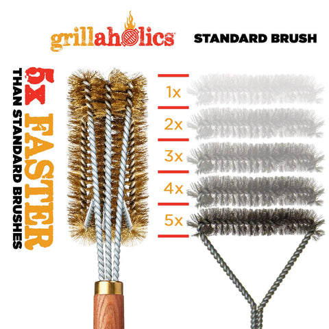 Image of Grillaholics Pro Brass Grill Brush