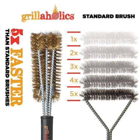 Image of Grillaholics Essentials Brass Grill Brush