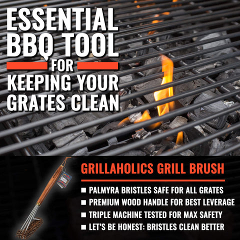 Image of Grillaholics Pro Palmyra Grill Brush