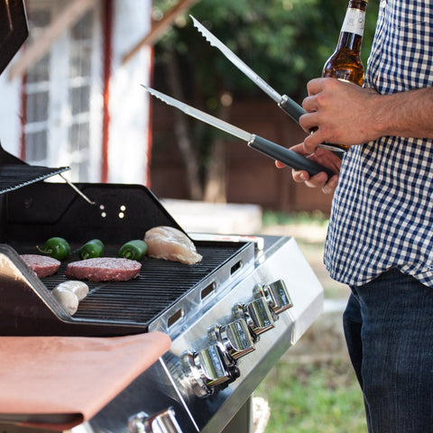 Grillaholics Grill Tools [Grill Tongs, Fork, Basting Brush, Spatula]