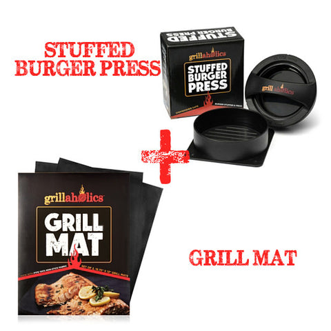 GRILL MAT AND STUFFED BURGER PRESS BUNDLE PACKAGE