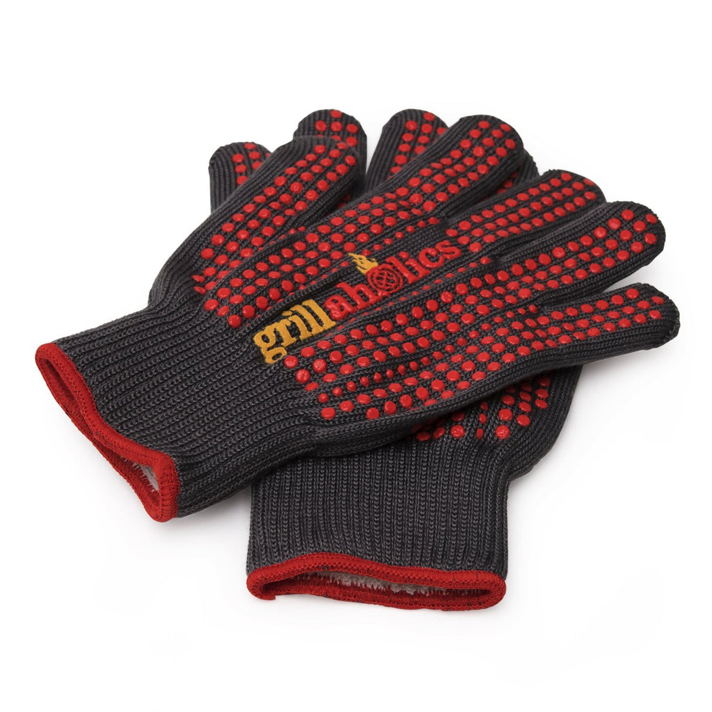 Grillaholics Grill Gloves - 1 Pair of 932°F Heat Resistant BBQ Gloves
