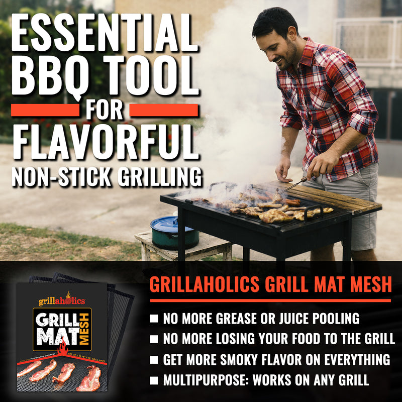 Grillaholics Mesh Grill Mat - Set of 2