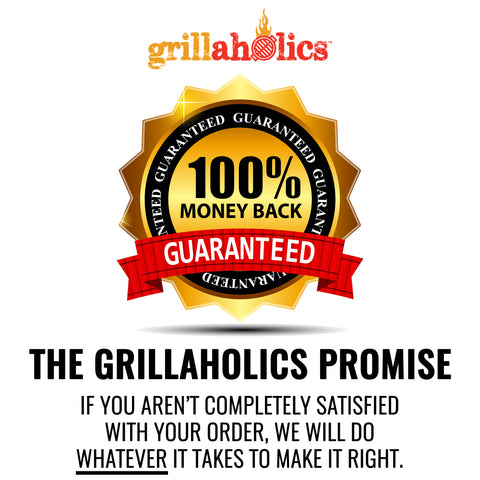 Image of Grillaholics Grill Mat - Heavy Duty BBQ Grill Mats - Non Stick, Reusable, and Easy to Clean - Set of 2