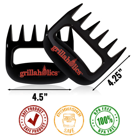 Grillaholics Meat Claws - Black