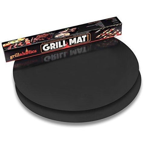 Grillaholics Round Grill Mat - Set of 2