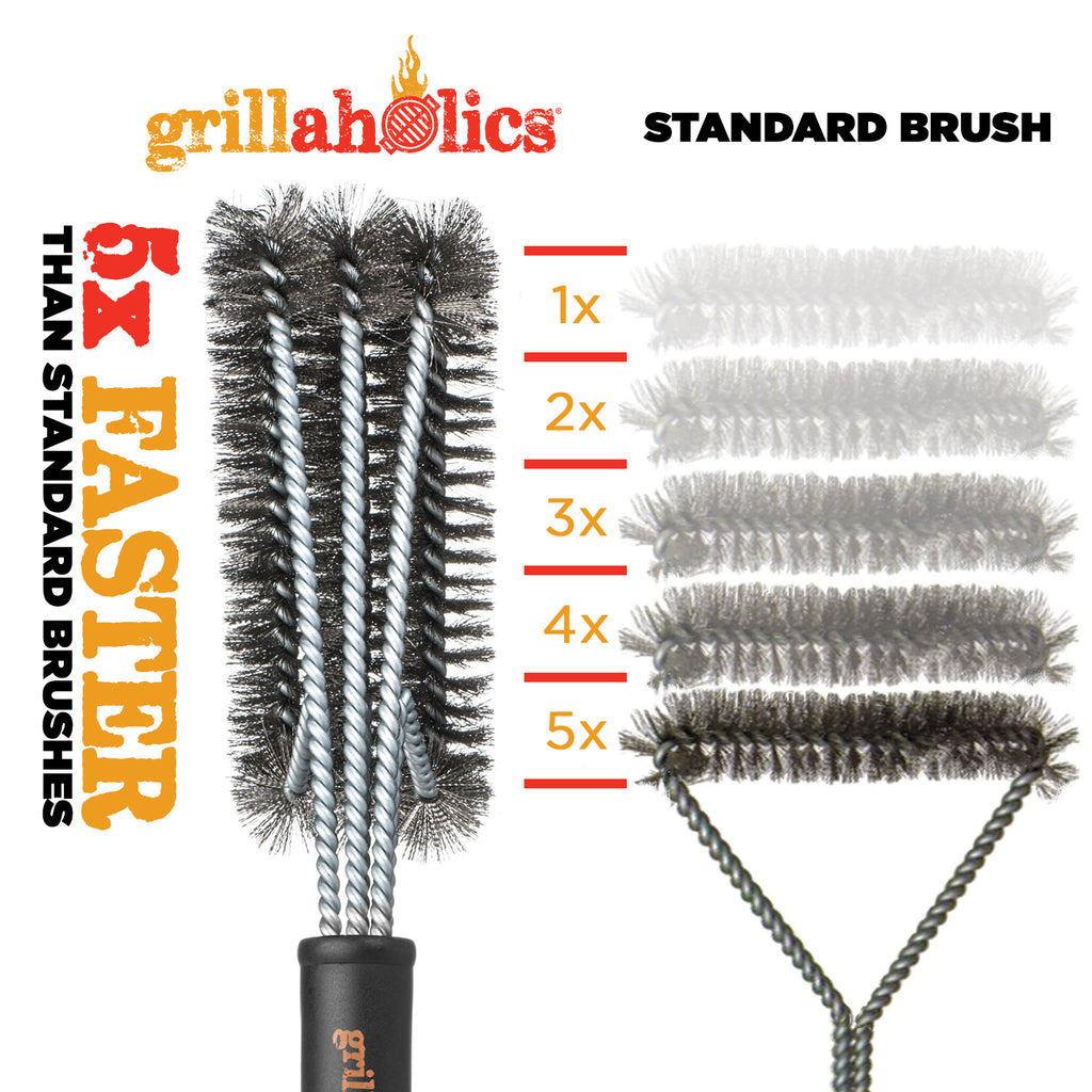 Grillaholics Essentials Steel Grill Brush