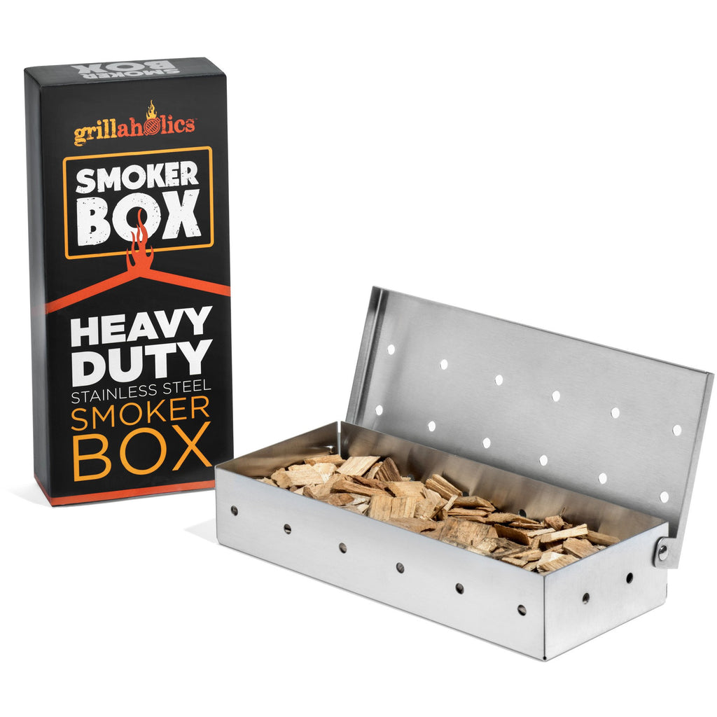 Grillaholics Smoker Box - Heavy Duty Stainless Steel