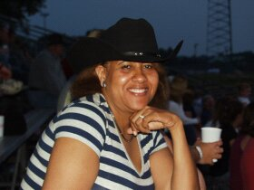 Owner of Cowboy Hats and More at a local rodeo