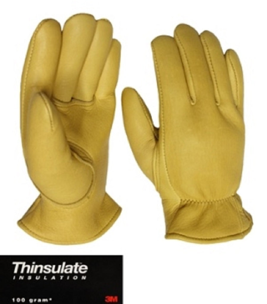Leather work gloves with thinsulate lining - Favorite Elkskin Leather Glove With Thinsulate Lining