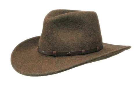 Black Creek Crushable Wool Cattleman Heritage Fedora - Cowboy Hats and More