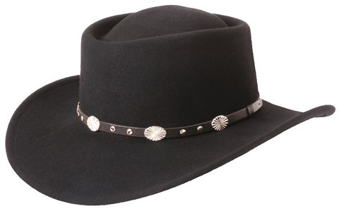 The Gambler -- Crushable Wool Western Hat by Silverado - Cowboy Hats and More