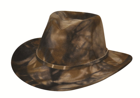 Black Creek Crushable Wool Camo Hat with Ear Flaps - Cowboy Hats and More  - 1