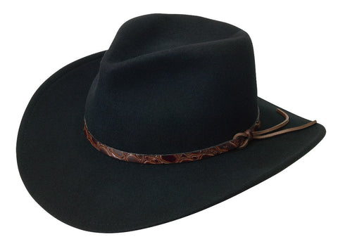 Black Creek Classic Cowboy Crushable Wool Fedora - Cowboy Hats and More