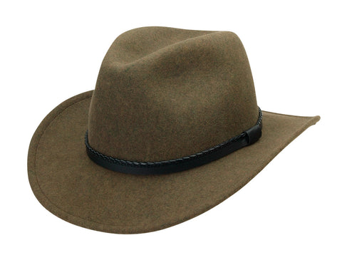 Black Creek Crushable Wool Heritage Fedora - Cowboy Hats and More  - 1