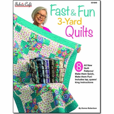 Fast & Fun 3 Yard Quilts Pattern Book - brewstitched.com
