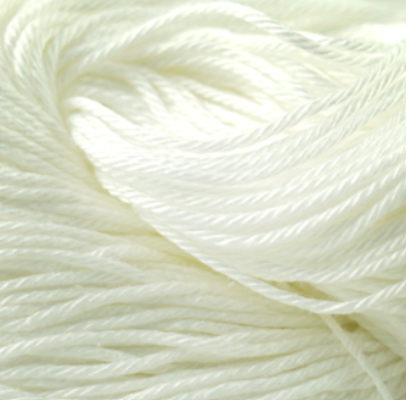 Cascade Noble Cotton Yarn in White - brewstitched.com