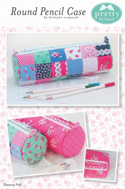 Round Pencil Case Paper Pattern by Pretty By Hand - brewstitched.com