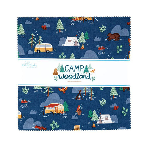 "Camp Woodland 10"" Squares - brewstitched.com"
