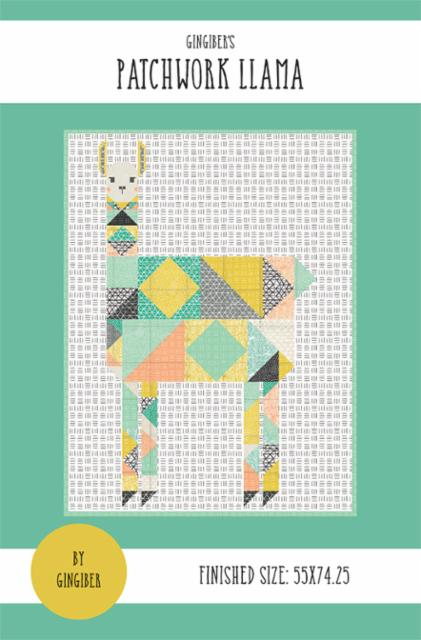 Patchwork Llama Zoology Lap Quilt Paper Pattern by Gingiber - brewstitched.com