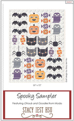 Spooky Sampler Quilt Paper Pattern from Stacy Iest Hsu - brewstitched.com
