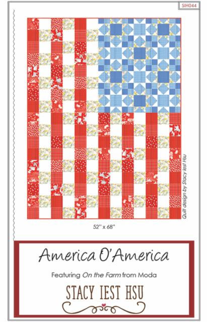 America O America Quilt Kit with Paper Pattern from Stacy Lest Hsu - brewstitched.com