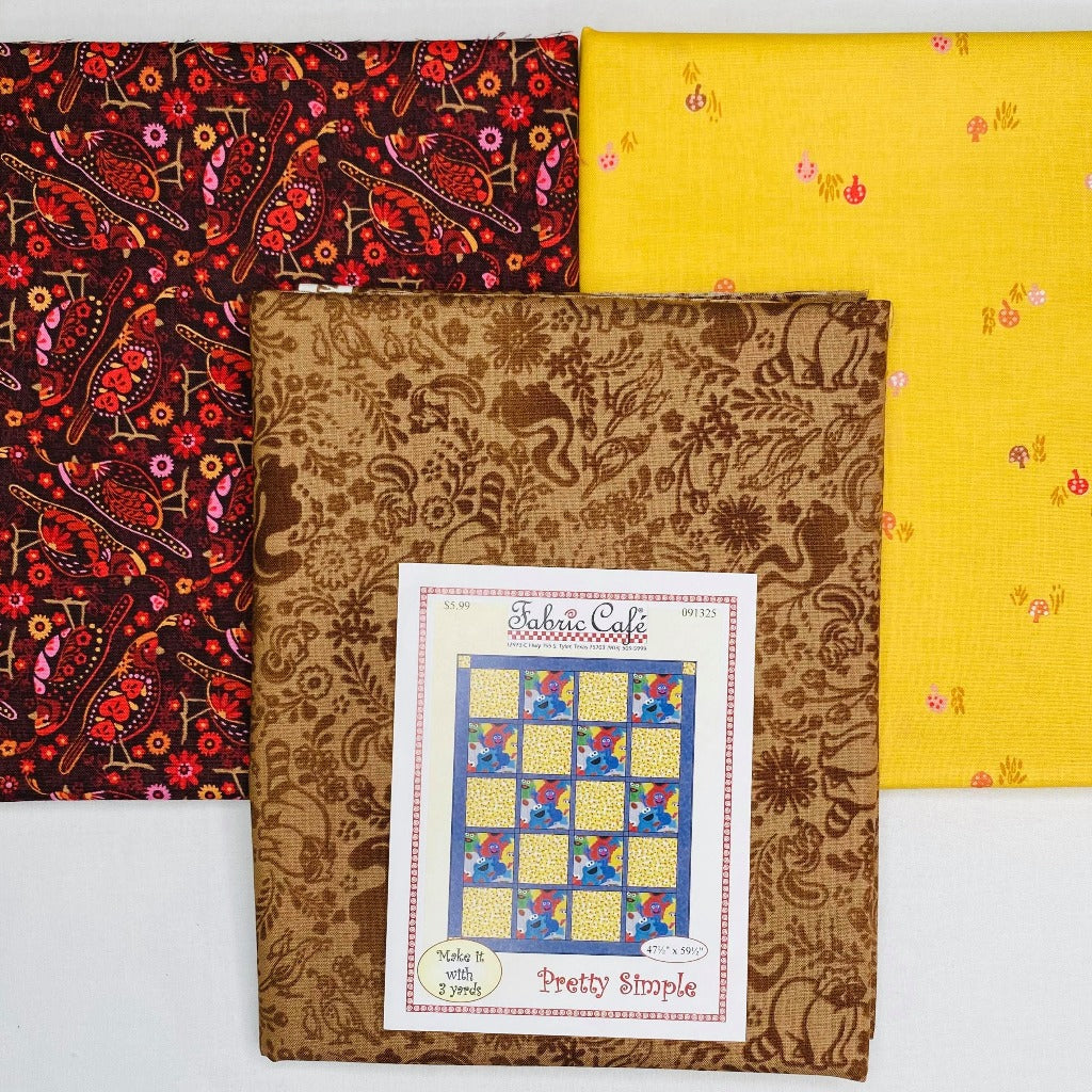 Hidden Canyon Pretty Simple 3 Yard Quilt Kit - brewstitched.com