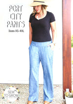 Port City Pants by Sew To Grow Paper Pattern - brewstitched.com